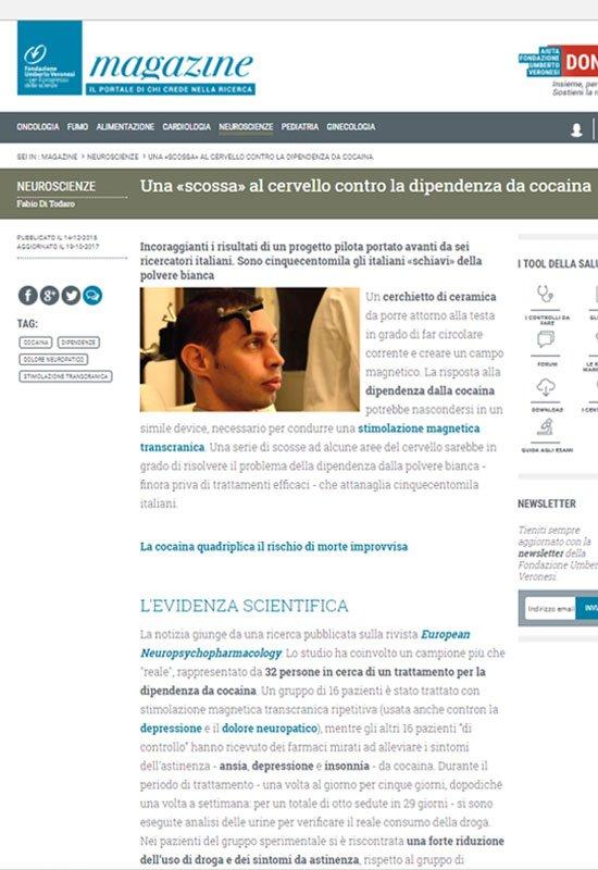 Fondazione Umberto Veronesi - Dipendenza dalla Cocaina